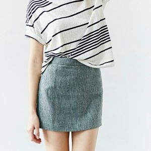 Urban Outfitters tweed linen mini skirt